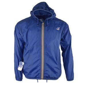 K WAY Mens Blue/Multi Windbreaker Rain Jacket Sz S